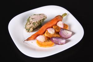 Pieczona polędwiczka z warzywami
